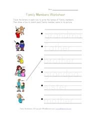 family members worksheet