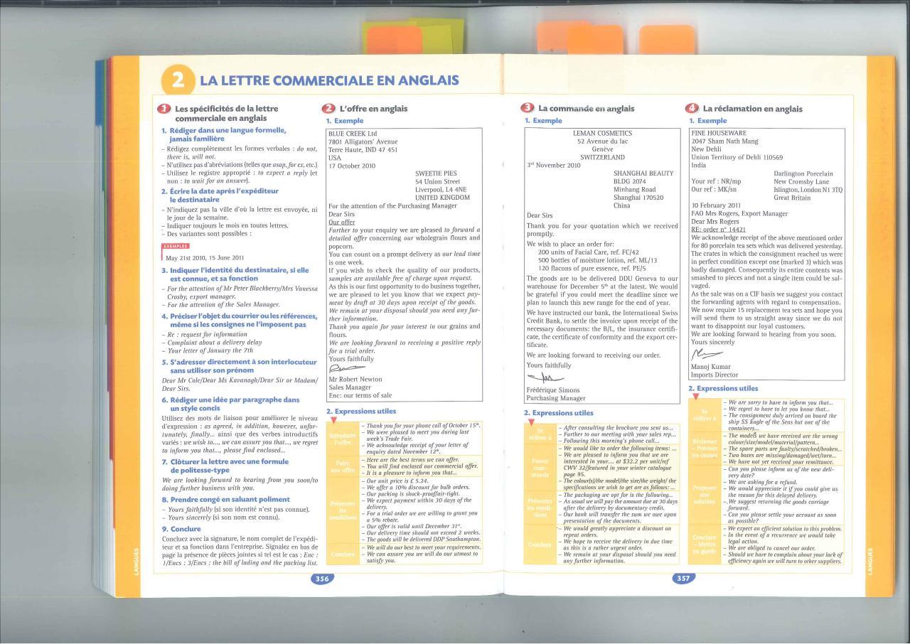 lettre commerciale anglais pdf