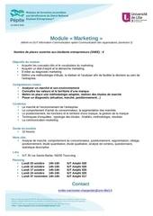 module initiation marketing lille3