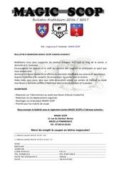 Fichier PDF bulletin dadhesion