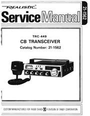 realistic trc 449 servicemanual