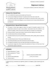 reglement interieur exemplaire direction