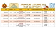 programme animations automne 2