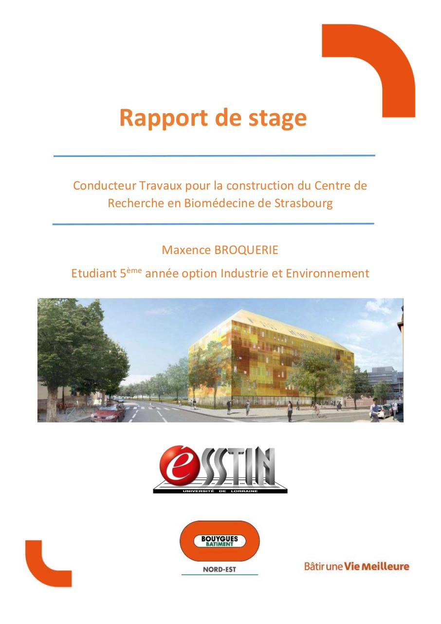 Rapport Stage 5a Broquerie Maxence Esstin Par Maxence