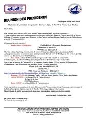 convocation re union pre sident de club