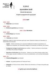 Fichier PDF deroule des epreuves cepe