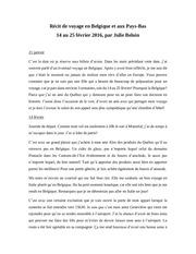 recit de voyage de julie en belgique et aux pays bas 1