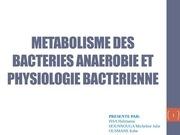 metabolisme des bacteries anaerobies kebe o