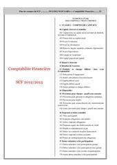 plan des comptes selon le scf