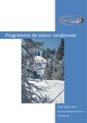 programme randonnees hiver