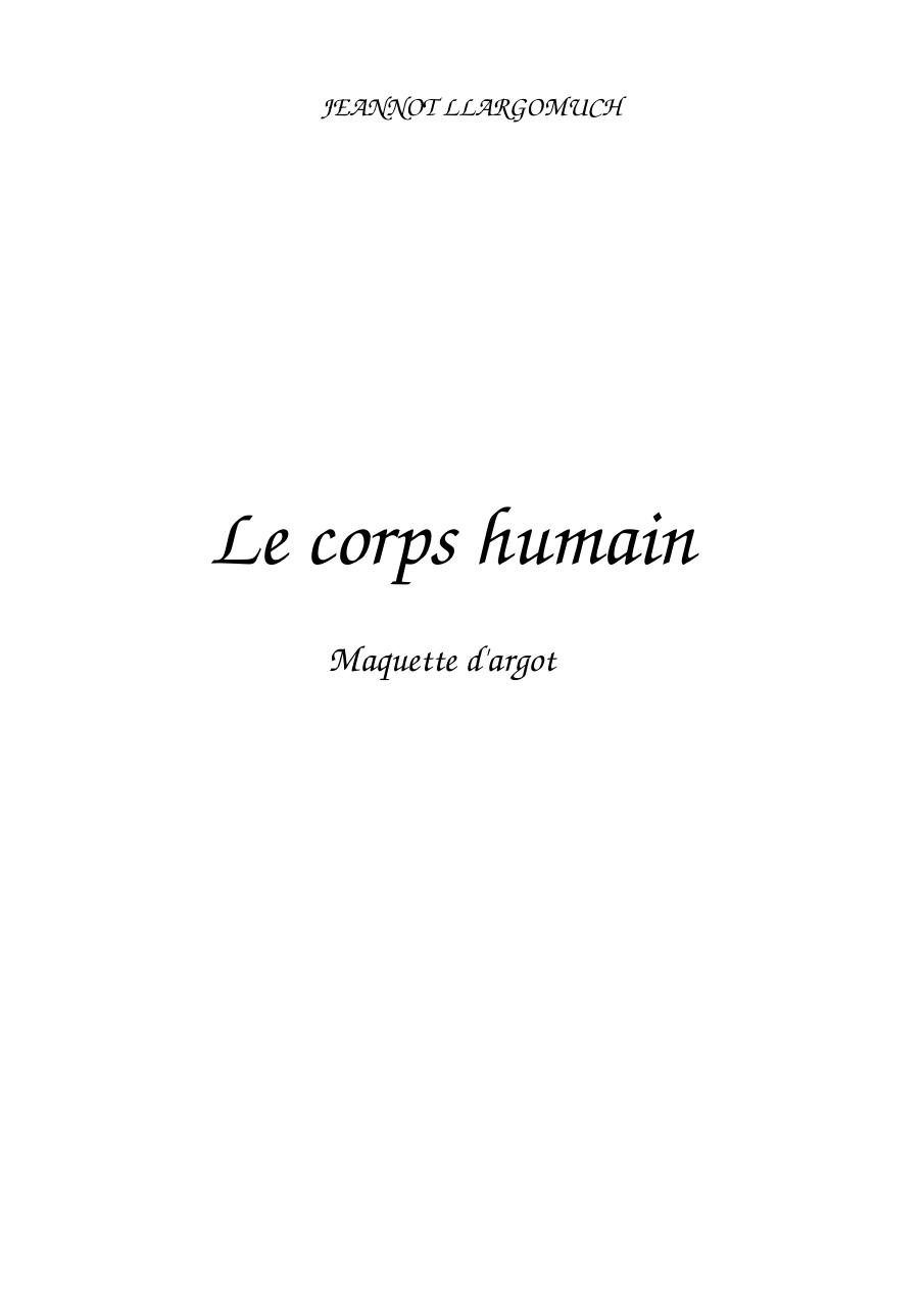 Argot -  le corps humain.pdf - page 1/7