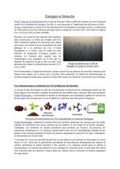 energies et biotechs