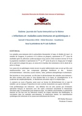 infections et maladies autoimmunes journee ammais 2016