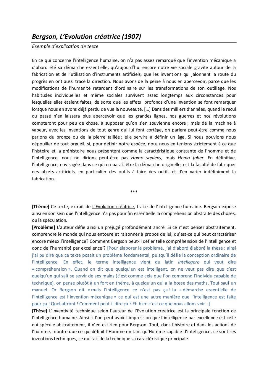 Commentaire De Texte Philosophie Corrigé Gratuit Pdf ...