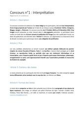 concours n1 interpretation reglement