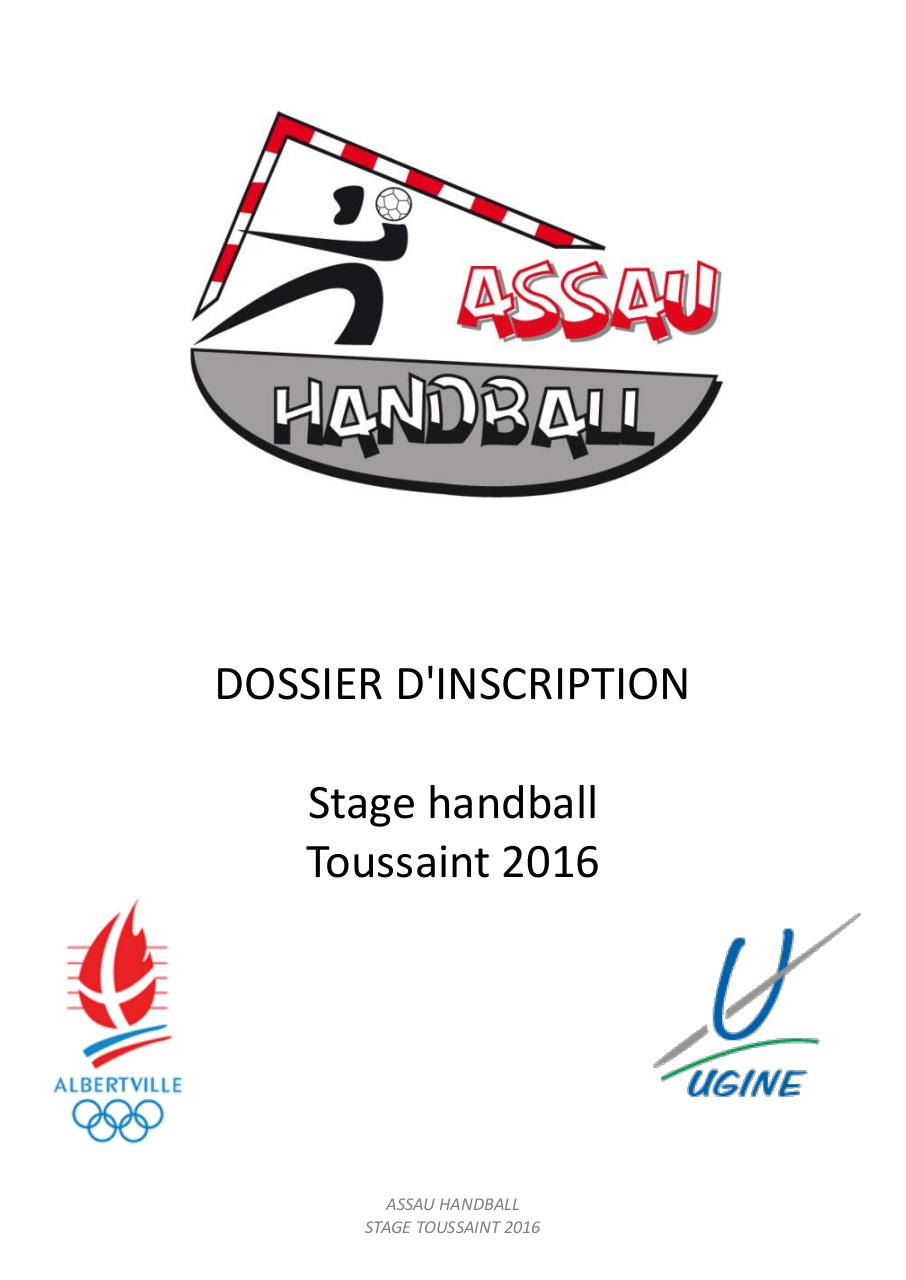 Dossier d'inscription stage Toussaint 2016.pdf - page 1/6