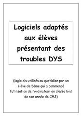 Fichier PDF logiciels adaptes dys