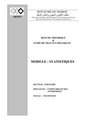Fichier PDF module statistiques