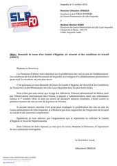 courrier directrice lls proliferation des rats