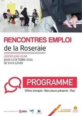 programme du 13 10 2016 rencontres emploi la roseraie angers