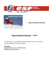 saison 2016 2017 calendrier week end competition