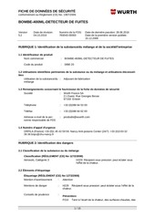 fiche de donnees securite fds wur089020