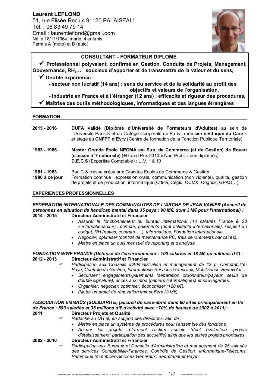 161013 cv l leflond consultant formateur par laurent
