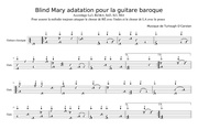 blind mary guitare baroque