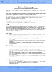 customer success manager offre d emploi
