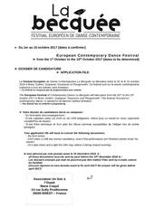dossier de candidature becquee 2017