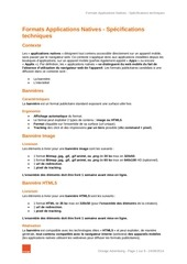 specs formats applications natives 28012015