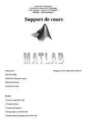 support de cours matlab st constantins 1