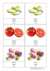 endive tomate navet