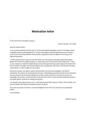 Fichier PDF motivation letter