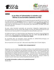 octobre 2016 communique formation aux rsg