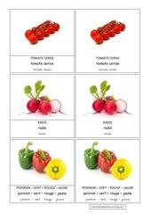 tomate cerise radis poivrons