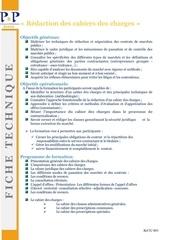 06 redaction des cahiers des charges