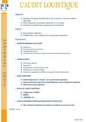 10 l audit logistique