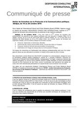 communique de presse protocole octobre dfg