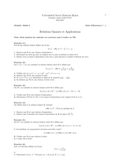relations binaires et applications