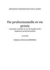 Fichier PDF vie professionnelle vie privee