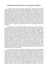 implantation de la langue francaise et son appropriation au maghreb