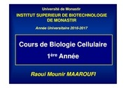 cours bio cell chap ii 1ere a isbm 2016 2017