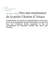 petite ukraine d alsace