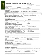application form mcdonaldsafrica