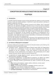chapitre 4 conception moules injection matieres plastiques