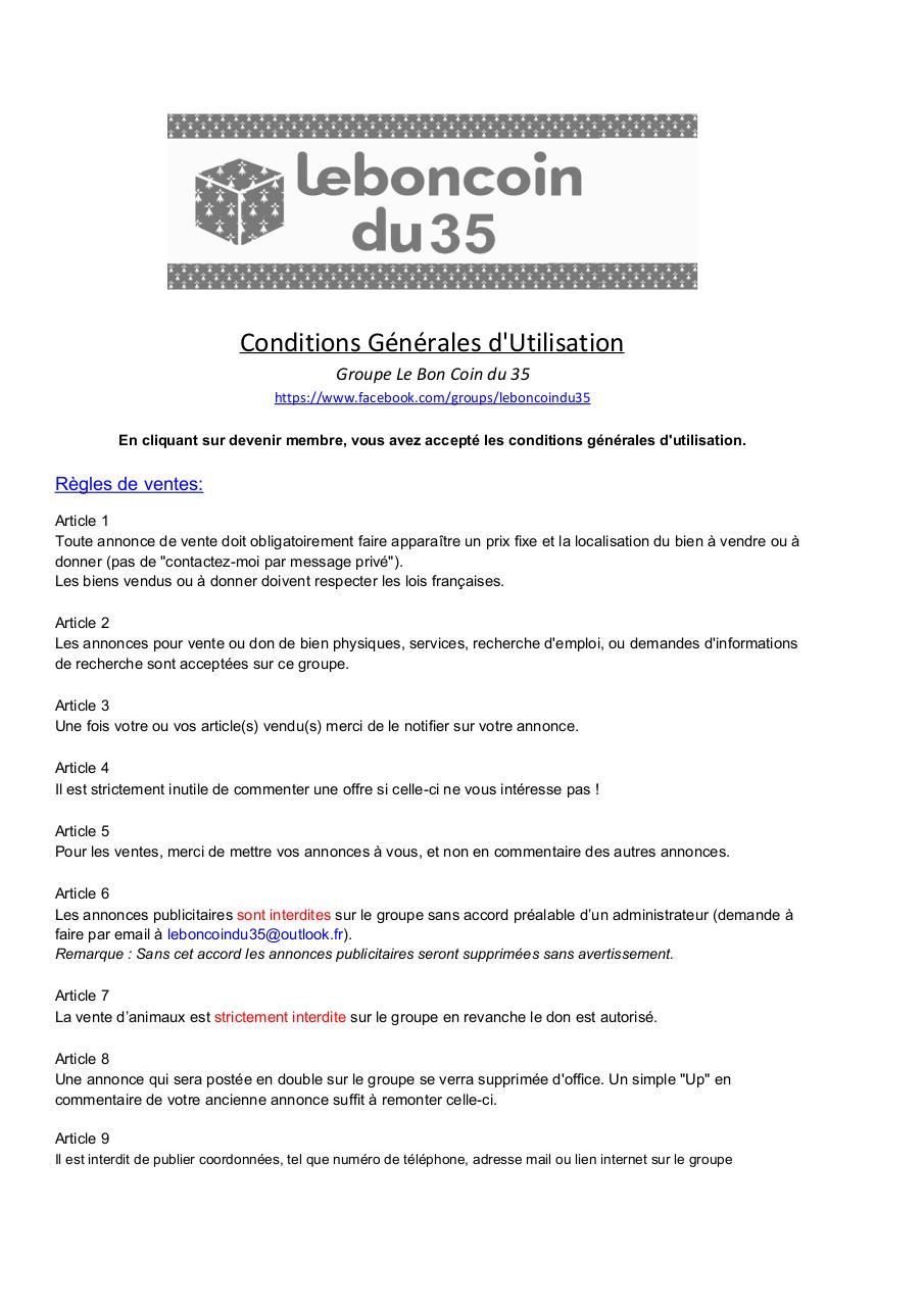 Cgu Groupe Le Bon Coin Du 35 Fichier Pdf