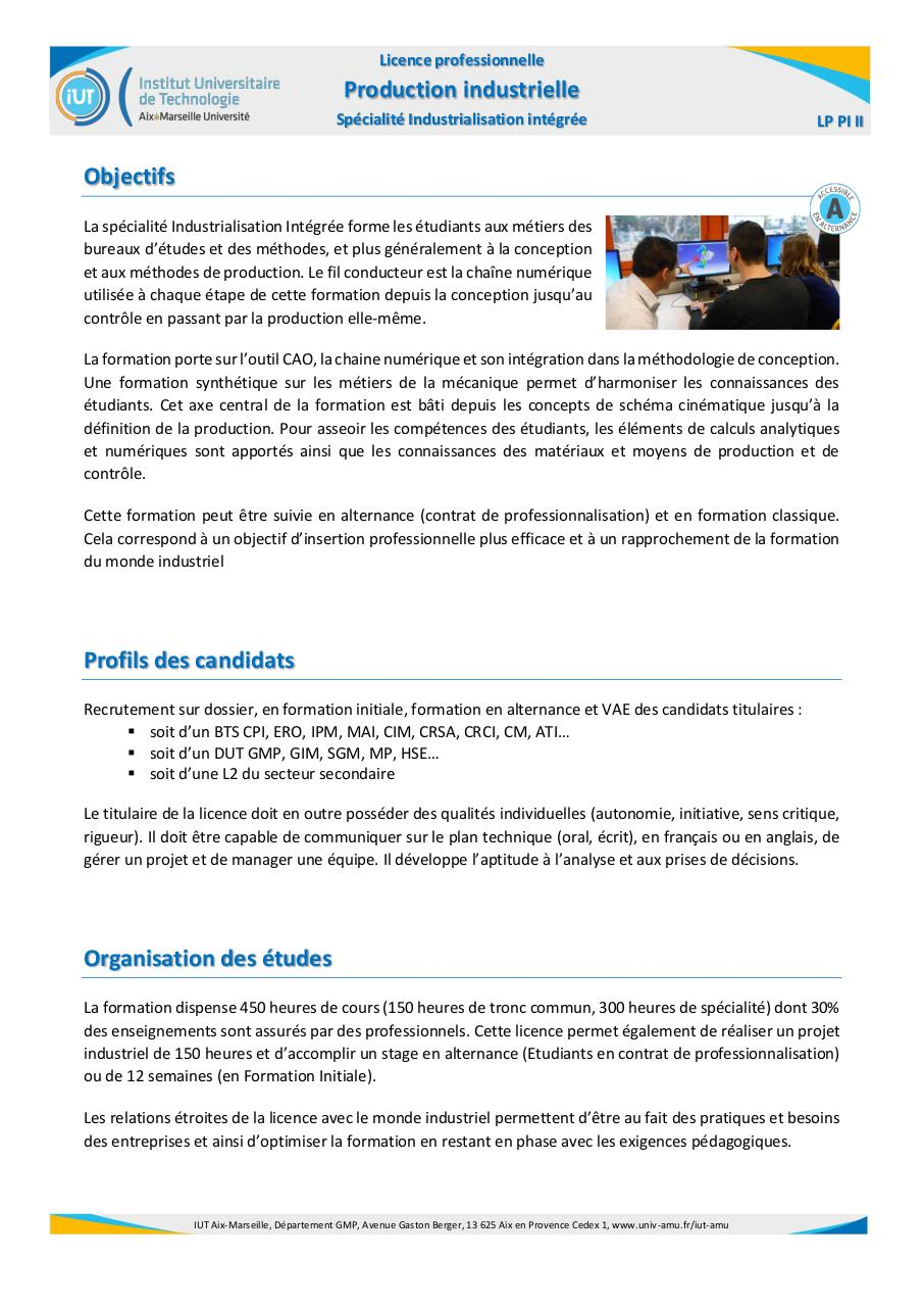 Licence Professionnelle Production industrielle v2016.pdf - page 1/2