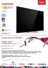 product sheets u58s7806s