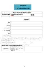 fiche inscription club gentleman fisher 2017